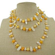 100% натуральный пресноводный жемчуг длинное ожерелье 120 см