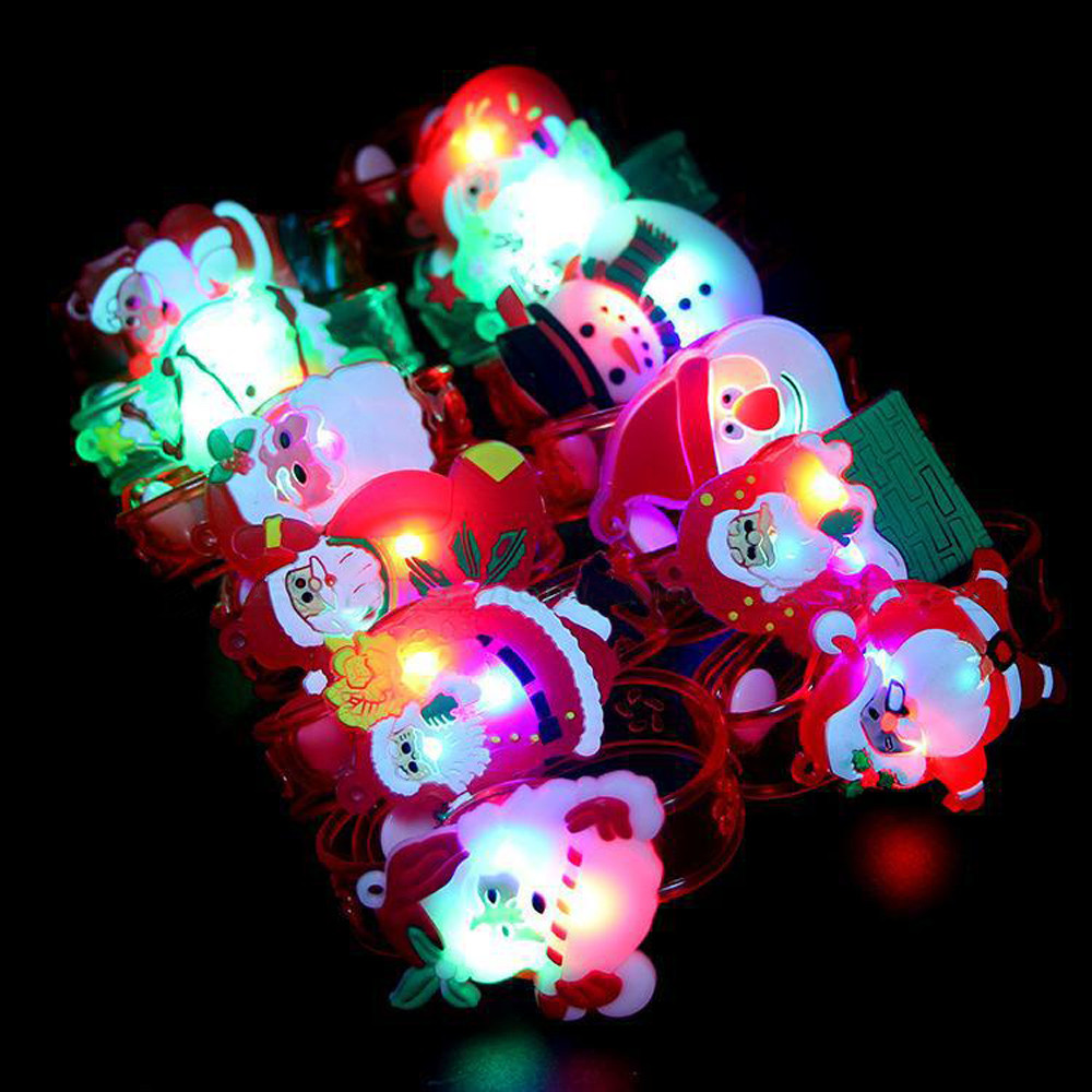 2019 New Year Present For Children Christmas Santa Claus Light Flash Toys Wrist Hand Take Dance Party Dinner Party Dropshopper