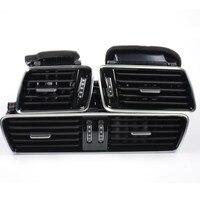 Кол-во 3 Новый черный Пианино Краски Chrome Автомобиль Центральной Консоли кондиционер отверстия для VW Passat B6 B7 cc R36 3AD819701A 3AD 819 702