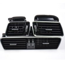 Qty 3 OEM Black Piano Paint Chrome Car Center Console Air Condition Vents For VW Passat B6 B7 CC R36 3AD 819 701 A 3AD 819 702 A