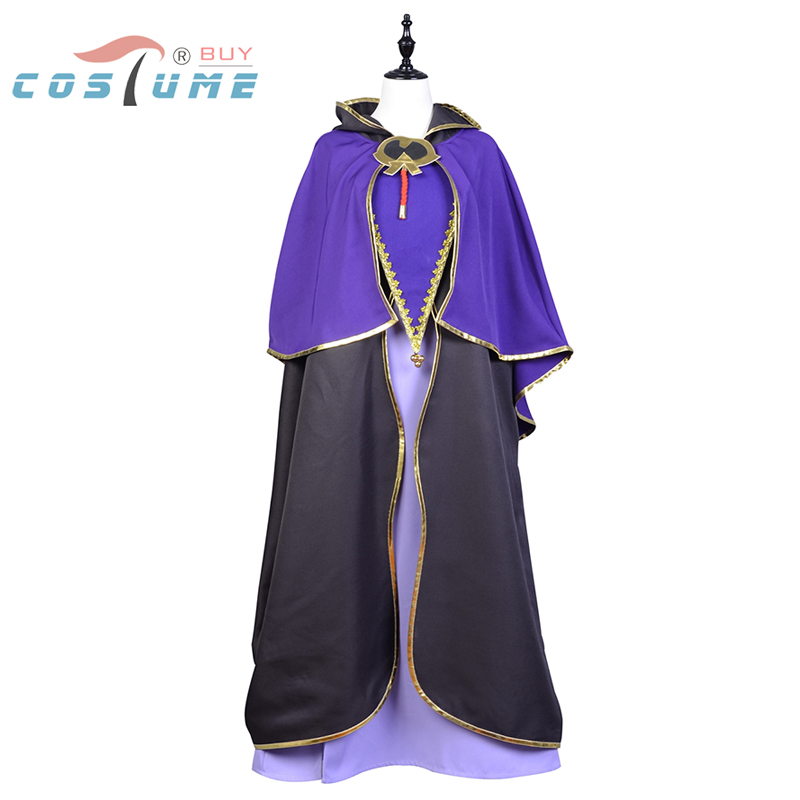 Fate/Stay Night Servant Caster Cosplay Costume For Women Outfit Cloak Dress Halloween Costumes