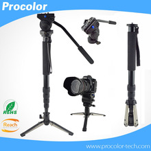 Video Camera Monopod Professional Best Monopod for Manfrotto Camcorder Fluid Head Tripod With Folding Three Feet Support Stand