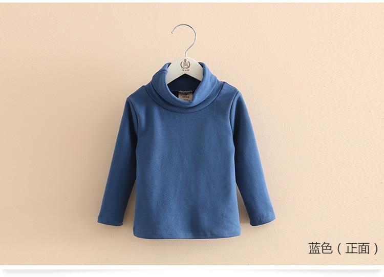 2018 Spring Autumn 2-10T Years Children'S Candy Color Sweet Long Sleeve High Neck Unisex Kids Girl Boy Basic Turtleneck T-Shirt (21)