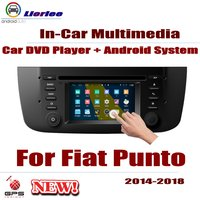 Автомобильный dvd плеер для Fiat Punto 2014 ~ 2018 gps навигатор Android 8 Core A53 процессор ips ЖК экран Радио BT SD USB AUX wifi