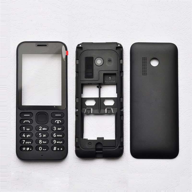 For <font><b>Nokia</b></font> <font><b>215</b></font> Full Housing Battery Cover <font><b>Case</b></font>+Middle Frame+Front Frame <font><b>215</b></font> Complete Housing image