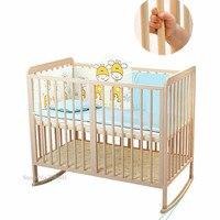 Деревянные детские кроватки with18mm круглое, многофункциональный детская кровать можно изменить, чтобы качалка колыбели, натуральной сосны д
