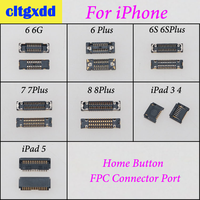 cltgxdd Home Button FPC <font><b>Connector</b></font> Dock Port Plug On Motherboard Replacement For <font><b>iPhone</b></font> 5 5S 5C 6S 6SP 7G 7 8 Plus For iPad 3 <font><b>4</b></font> 5 image