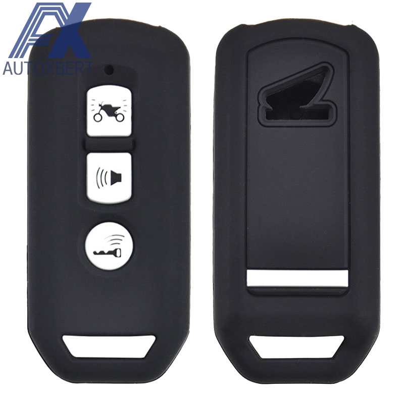 AX 3 Button For Honda PCX SH 125 150 2016 - 2020 Super Cub 125 Silicone Motorcycle Scooter Remote Key Keyring Case Fob Cover