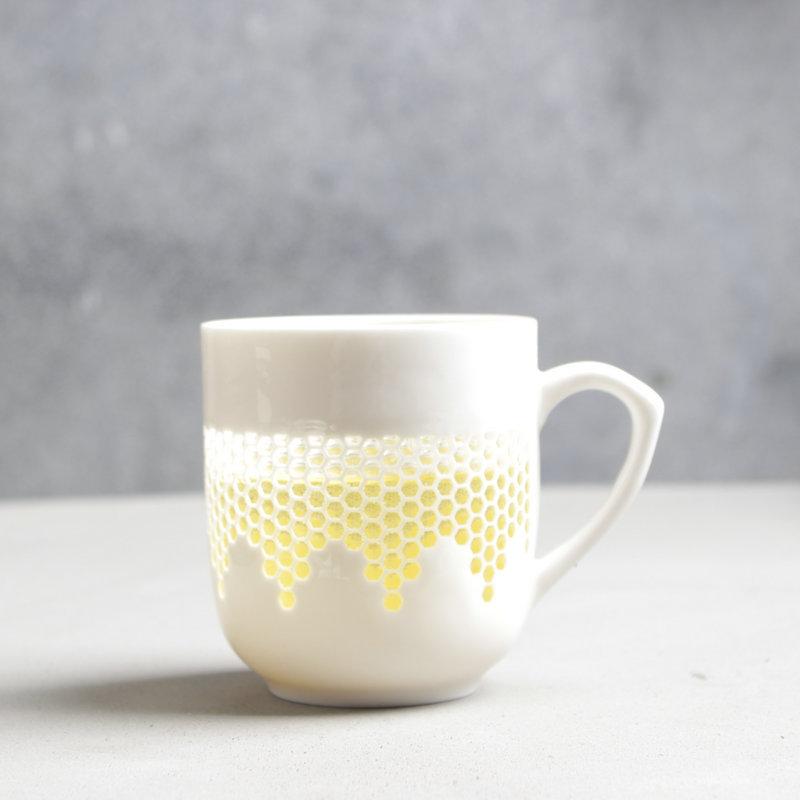 Ceramic Mug Office Cup Creative   Large Capacity Linglong Empty 360ML serveware