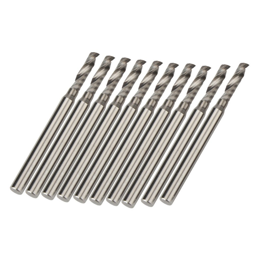 2.5x10mm Cutting Carbide Single Flute CNC Cutter End Mill Tools Pack of 10 free shipping sfu1605 rolled ball screw c7 with 1605 flange single ball nut for cnc parts rm1605 for different length