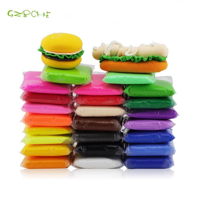 1ps Air Gedroogde polymeerklei 100g solide kleurenslijm Zacht - Leren en onderwijs