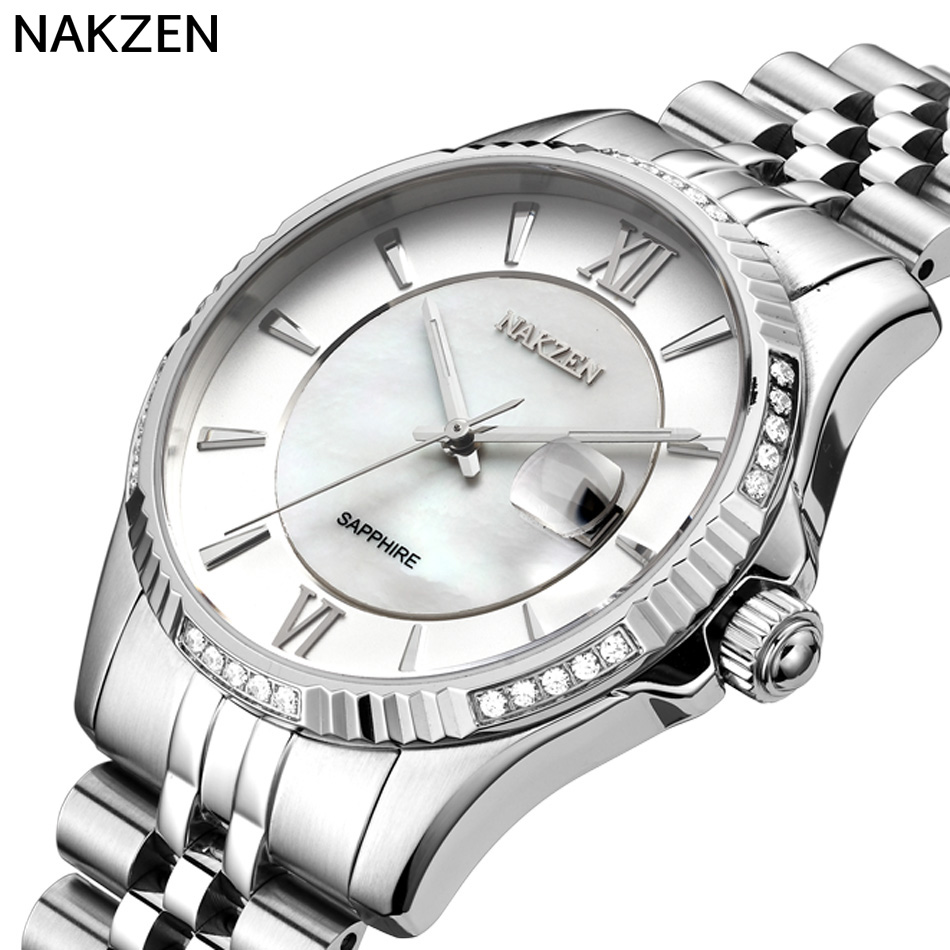2017NAKZEN Hot Men s Watch Top Brand Luminous Sapphire Waterproof Stainless Steel Quartz Watch Men s