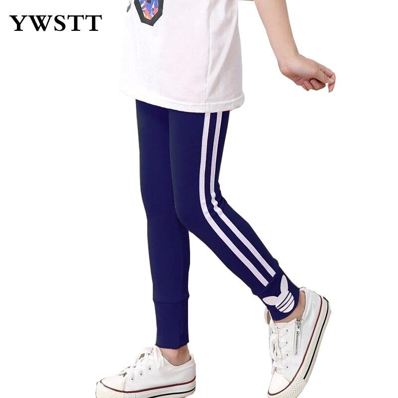 Retail spring autumn girls leggings cotton pants for girls sport leggings girl clothing 3-10Years children fashion casual pants black see through detail fashion sport leggings