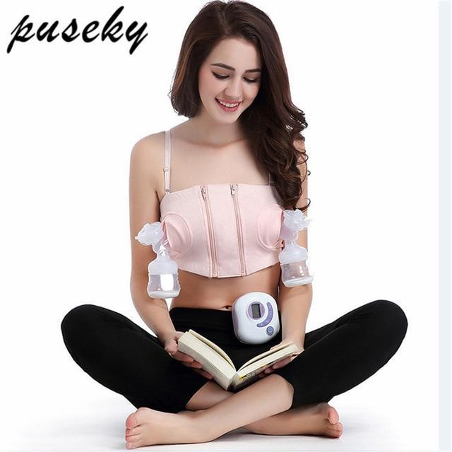 946cadca2082c 2018 New Women Hands-Free Maternity Breast Pump Bra Breastfeeding Nursing  Bra Pumping Milk Bra