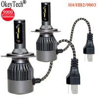 2Pcs Set Super Bright CSP LED Car Headlight Bulbs Hi Lo Beam 80W 9000Lm H4 9003