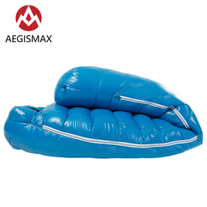 Image 3 - AEGISMAX G2 Outdoor White Goose Down Mummy Camping Sleeping Bag Cold Winter Ultralight Baffle Design Camping Splicing FP800