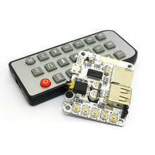 Wireless Bluetooth Audio Receiver Board Car Bluetooth Amplifier Modified Pre-Amp With Radio + Remote Control FLAC WAV MP3 WMA