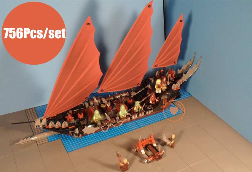 New The Lord of the Rings fit legoings Pirate Ship Lord ship figures Ambush Model Building Block Bricks Toy boy 79008 gift kid