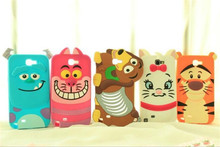 For iPhone 5 S SE 6 6S plus 7 7 plus 3D Cartoon tiger Alice cat dog soft silicone back cover Phone case