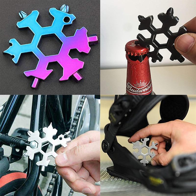 Snowflake Shape Multi-Function Wrench Gadget Hexagon