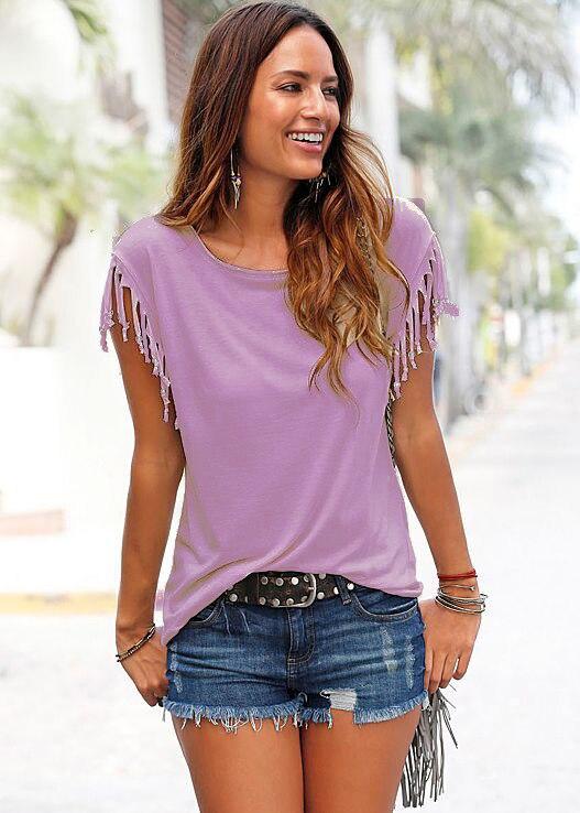 Più il Formato Solido Delle Donne T-Shirt di Moda 2018 di Estate Allentato Top Magliette O-Collo Casual magliette Femminile Nuovo Tee
