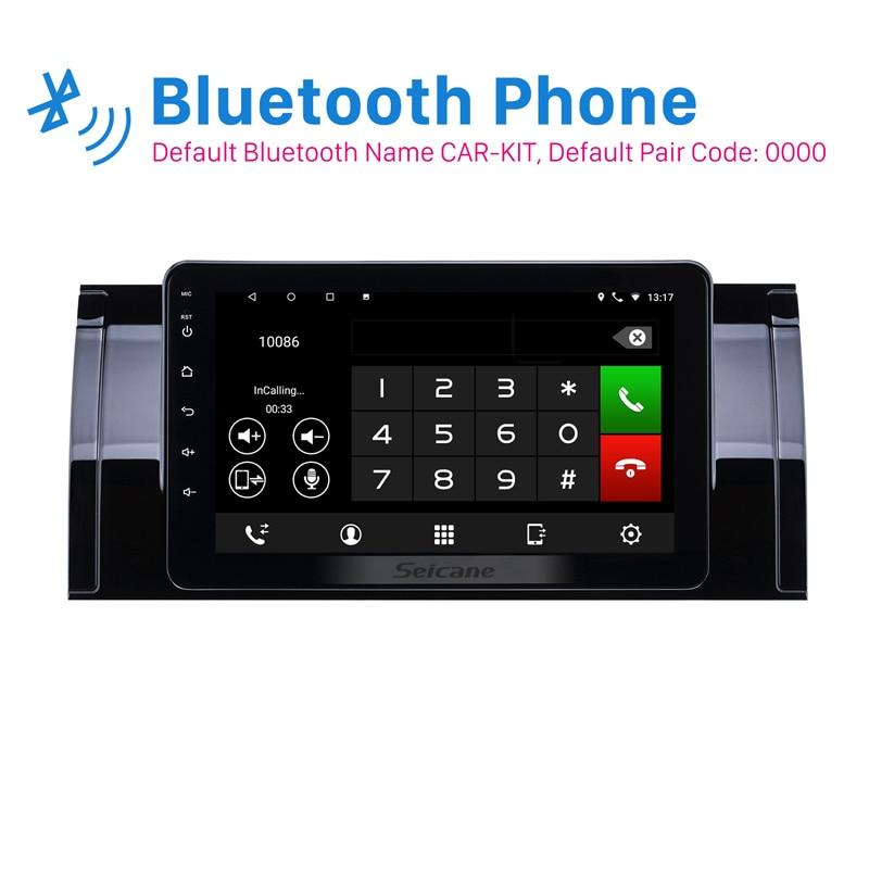 Seicane 8 pouces Android 8.1 IPS écran voiture GPS Navigation pour BMW X5 E53 2000-2007 support Radio DVR miroir lien Carplay TPMS OBD