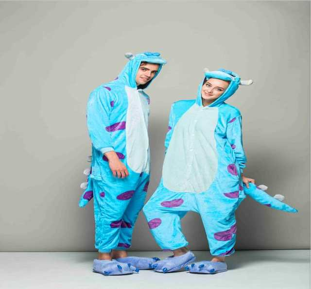 2454d3b45a placeholder monster Sulley Sullivan adult onesies Pyjamas Cartoon animal  costume Pajamas Unisex pijamas