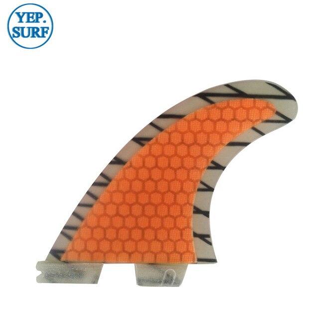 FCSII G5 M Size Surf Fins Surfboard Orange Honeycomb Fins FCS 2 Carbon Firbe Fin New Design FCS II Quilhas