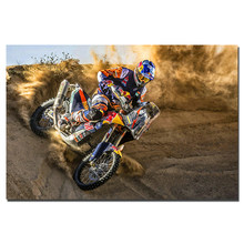 Motocross Poster Canvas Painting Unframed Wall Art Pictures Print For Living Room Home Decor(China)