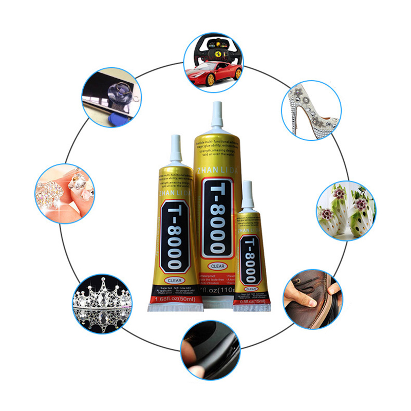 15ml DIY MultiPurpose Liquid T8000 Super Glue T-8000 Strong Epoxy Resin Adhesive For Crystals Craft Rhinestone Phone Screen15ml DIY MultiPurpose Liquid T8000 Super Glue T-8000 Strong Epoxy Resin Adhesive For Crystals Craft Rhinestone Phone Screen