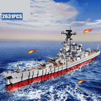 XINGBAO 06030 2631pcs Military Series The Missouri Battleship Set Building Blocks Bricks New Kid Toys Christmas Gifts Ship Model