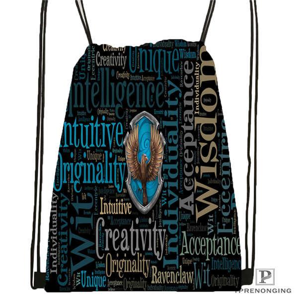 Custom hufflepuff 03 Drawstring Backpack Bag Cute Daypack Kids Satchel Black Back 31x40cm 180611 03 127