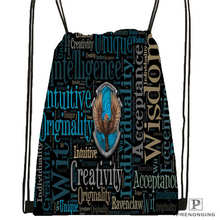 Custom hufflepuff-@03-Drawstring Backpack Bag Cute Daypack Kids Satchel (Black Back) 31x40cm#180611-03-127