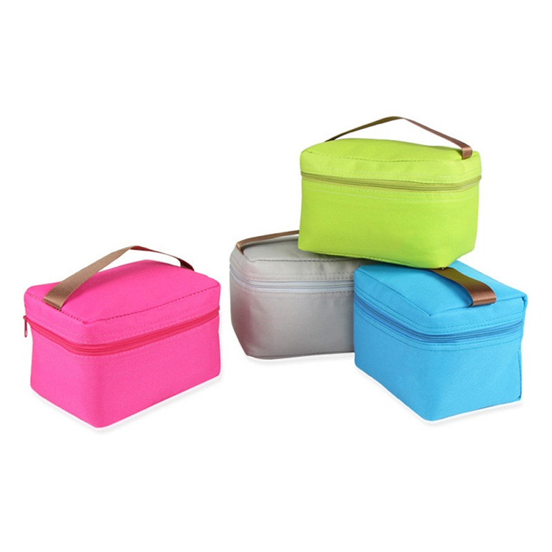Compact Portable Canvas Insulated Bento Box Bag Waterproof Lunch Bag Picnic Bag Cooler Storage Bag with Cartoon Patterns
