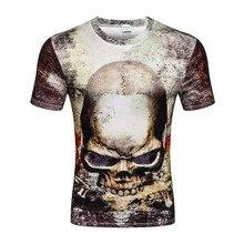 2017 New casual tops tee harajuku summer 3d t shirts hip hop graphic print skull t-shirt 3d tshirt for men wholesale