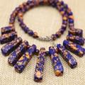 Многоцветный искусственного Phoenix лазурит бирюзовый камень 6 мм круглый бисер diy ожерелье 15-39 мм 11 шт. прямоугольник кулон 18 дюймов B3137