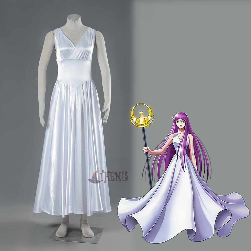 Athemis Saint Seiya: Legend of Sanctuary Cosplay Costume goddess dress High Quality saint seiya legend of sanctuary saga cosplay costume