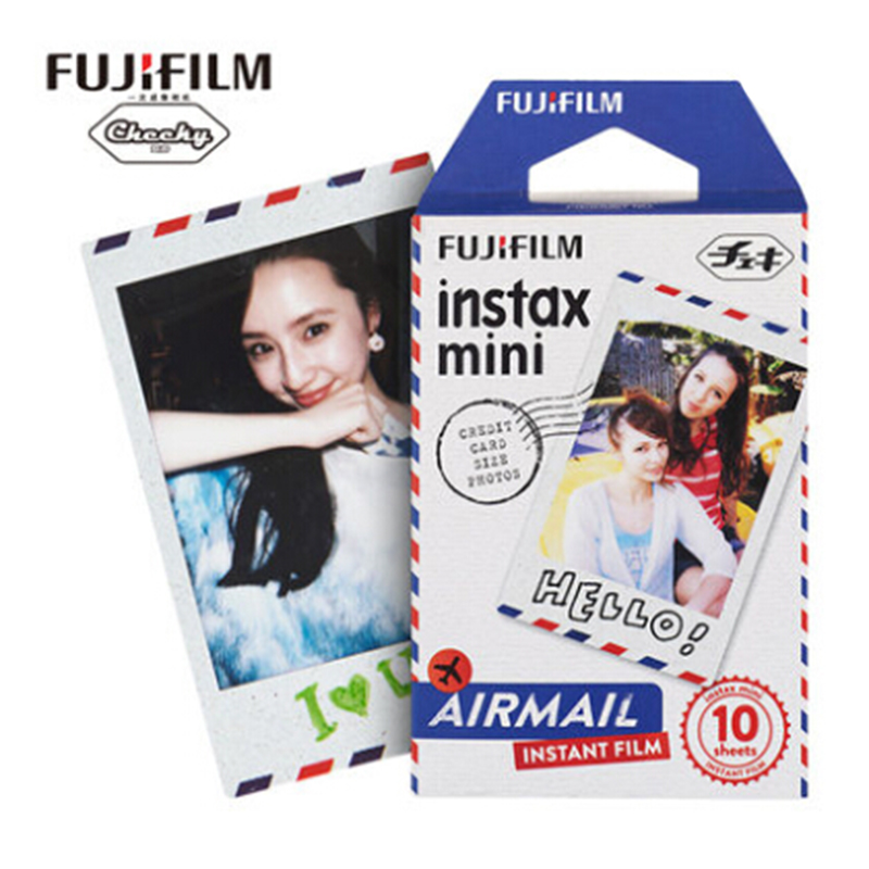 Original Fujifilm Instax Mini Instant (10 sheets) Air mail Film for Polaroid all Mini camera 7s 8 9 25 50s 90 SP-1
