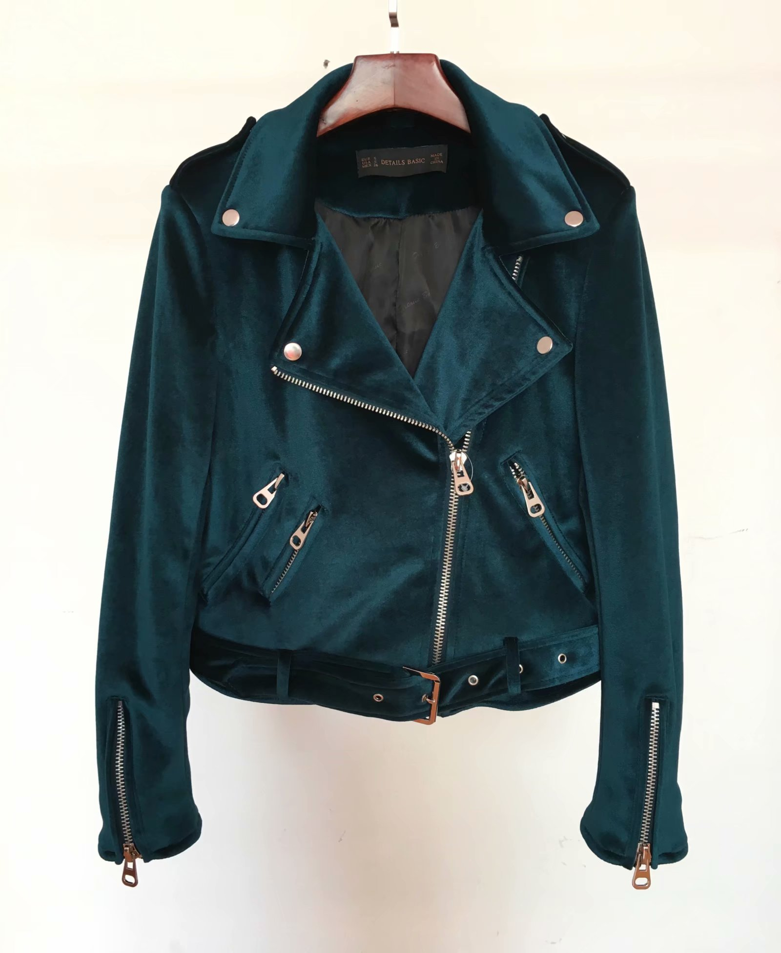 Outwear Sim Bleu Shorts Red Tops Velours Vin Peacoat Motards Fit Moto Punk Wine Femmes De Manteaux Rouge Or Veste green Élégant 7HZxOqg