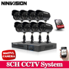 1TB HDD White CCTV System 8CH CCTV DVR With 960H CMOS Camera Security System With IR