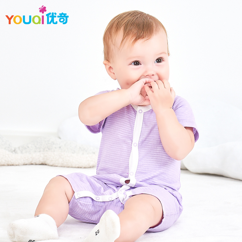 YOUQI Baby Clothes Summer Cotton Baby Rompers Short Sleeve Girl Clothes Baby Clothing Boy Jumpsuit Brand Costumes Infant Pajamas baby boys girls summer cotton clothes white navy sailor uniforms rompers short sleeve one pieces jumpsuit babies clothing gifts