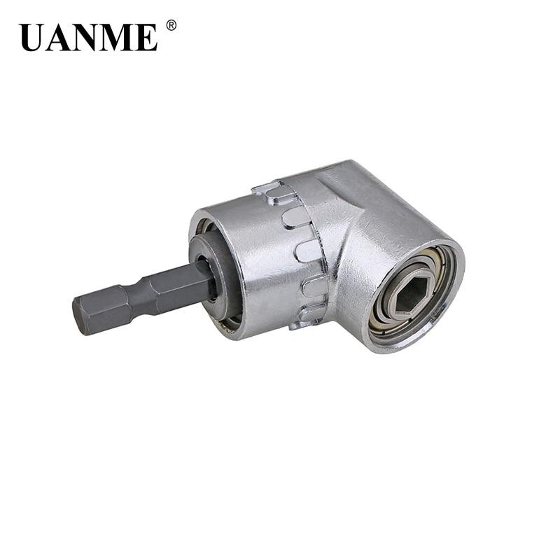 UANME Adjustable 1/4 Hex Shank Angle Driver Screwdriver 105 Degree Magnetic Bit Extension Screw Socket Holder Adapter