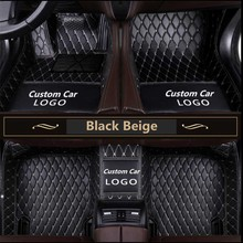 Car Floor Mats All Tesla S X 3 2013-2018 Knitting Logo Leather For  Custom Auto Foot Pads Automobile Carpet Cover