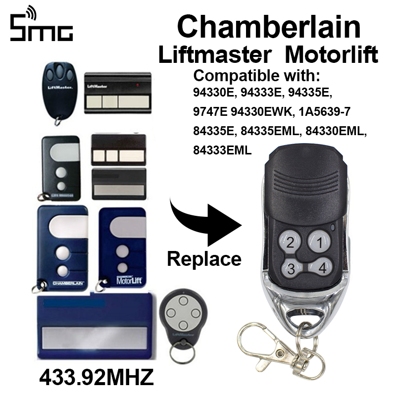 1pcs Chamberlain Liftmaster Motorlift 94335E <font><b>84335EML</b></font> 84330EML 84333EM Replacement Remote Control gate 433.92mhz rolling code image