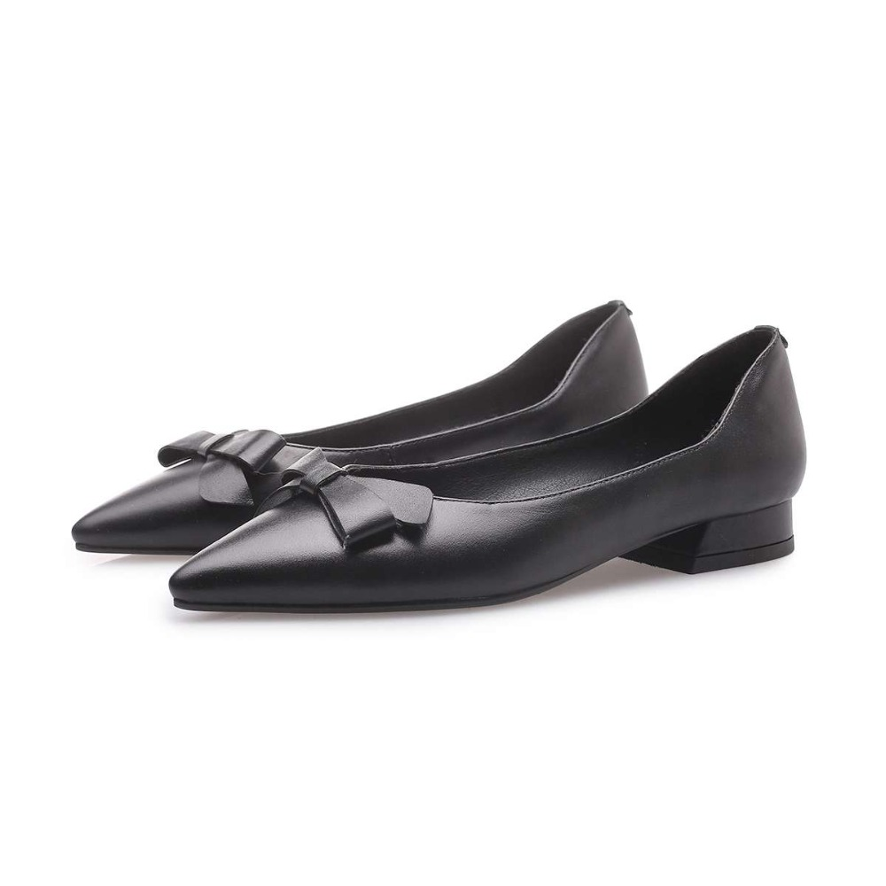 Véritable Noir Office Brown Lady De Sur Faible Grey Pointu Glissement Cuir noeud Chaussures Bout Couture light Talons 2019 Sexy Conduite light Classique Papillon Haute L80 qWfRRS8