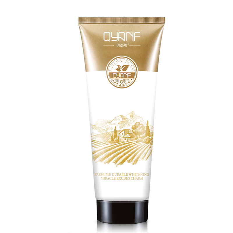 QYANF perfume Milagre Beleza Ageless Loção de Clareamento Da Pele Cuidados Com o Corpo Profundo Creme Hidratante Anti Rachadura Fragrância Duradoura