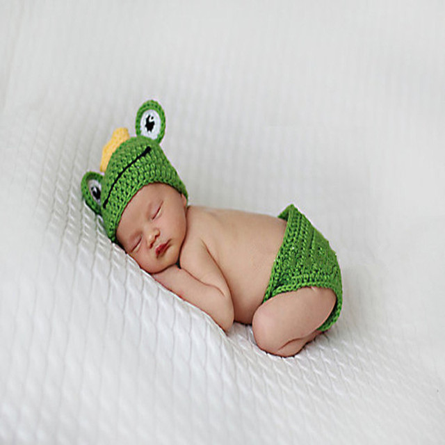 Bebé Rana traje Princesa para niños crochet accesorios para una ...