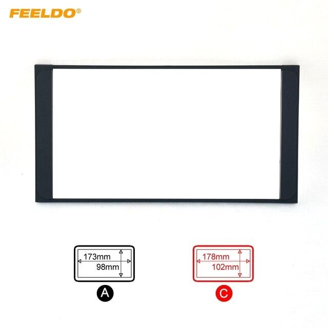 FEELDO Car Radio Stereo 2DIN Fascia Panel Refitting Frame Facia Trim Install Mount Kit For TOYOTA Camry/PREVIA/VIOS/COROLLA