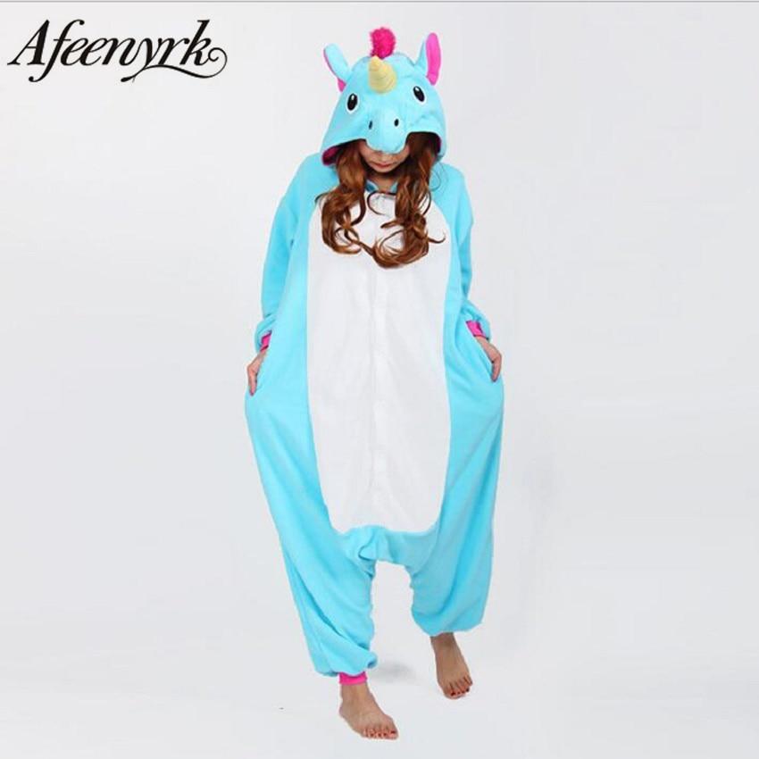 AFEENYRK licorne Femmes Souple confortable Pyjamas Set Vêtements De Nuit de Détente Pyjamas Unisexe Homewear Pour fille/garçons/vêtements de Nuit Pour Adultes