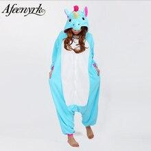 AFEENYRK unicórnio Pijamas Set Pijamas Loungewear Pijama Unisex Homewear Das Mulheres Macio e confortável Para A menina/meninos/Sleepwear Para Adultos